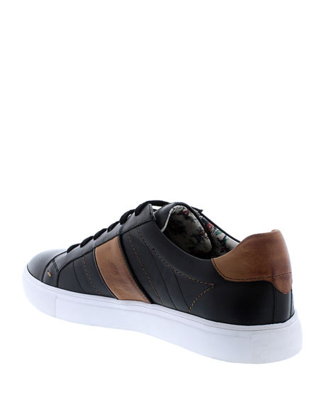 Image 4 of 4: Robert Graham Men's Attwood Two-Tone Leather Sneakers