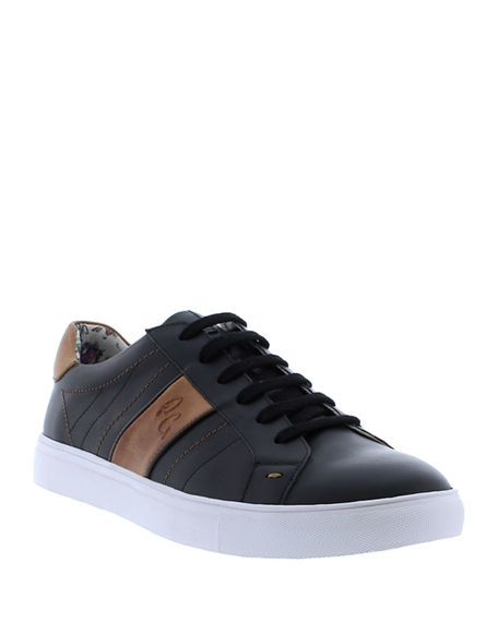 Image 1 of 4: Robert Graham Men's Attwood Two-Tone Leather Sneakers