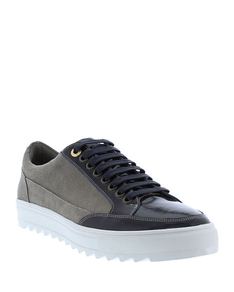 Badgley Mischka Men's Buffet Suede/Leather Low-Top Sneakers