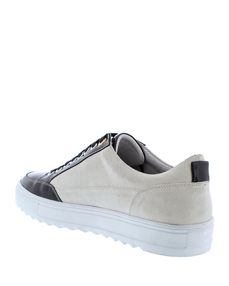 Image 4 of 4: Badgley Mischka Men's Buffet Suede/Leather Low-Top Sneakers