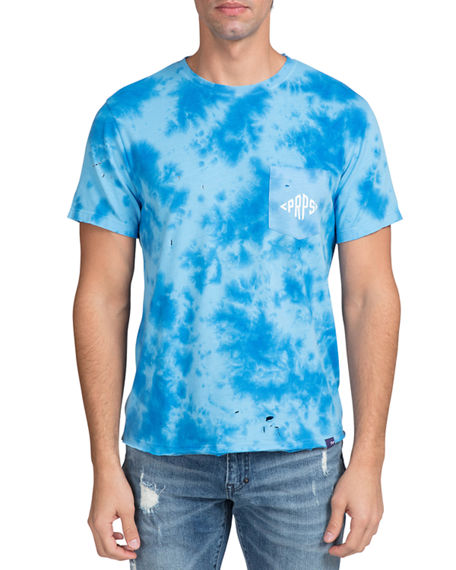 PRPS Men's Faded Wash Pocket T-Shirt