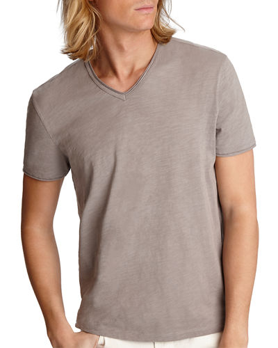 Men's Miles Short Sleeve Slub V-Neck T-Shirt