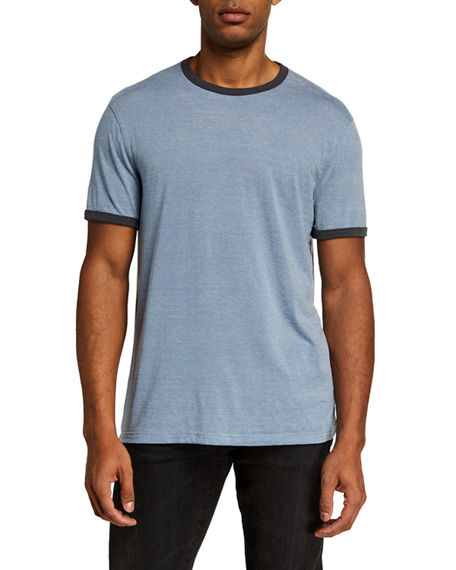 John Varvatos Star USA Men's Carney Burnout Ringer T-Shirt