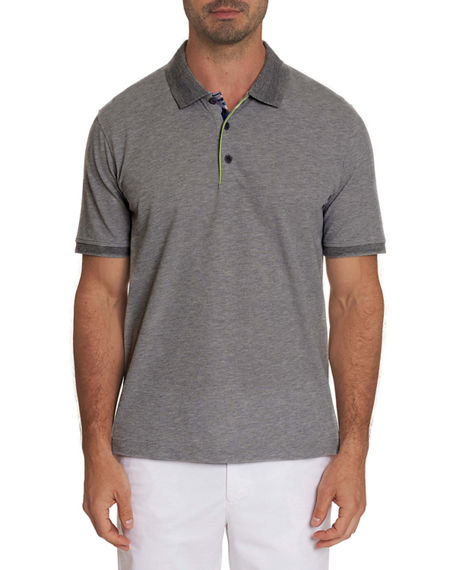 Robert Graham Men's Champion Pique Polo Shirt w/ Piping