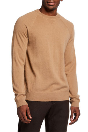 Vince Men's Raglan Cashmere Crewneck Sweater