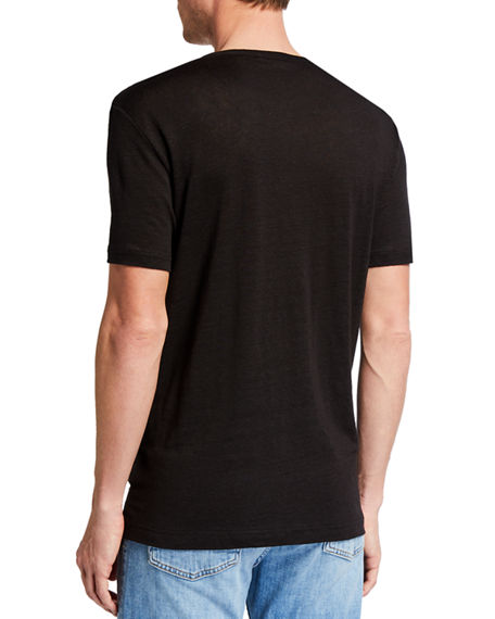 Image 2 of 2: 7 for all mankind Men's Linen Jersey T-Shirt