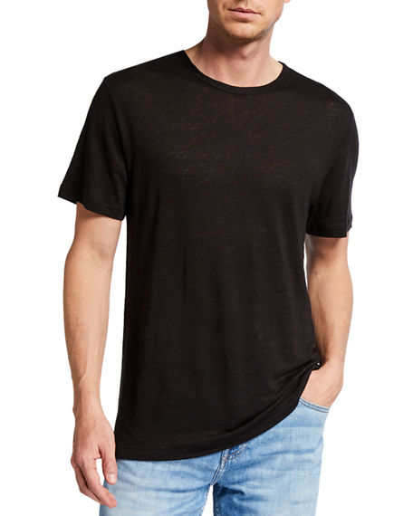 Image 1 of 2: 7 for all mankind Men's Linen Jersey T-Shirt