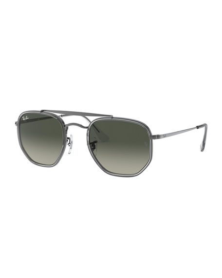 Ray-Ban Men's Hexagonal Steel Double-Bridge Sunglasses