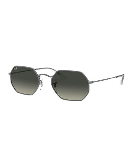 Ray-Ban Men's Lightweight Octagonal Metal Sunglasses