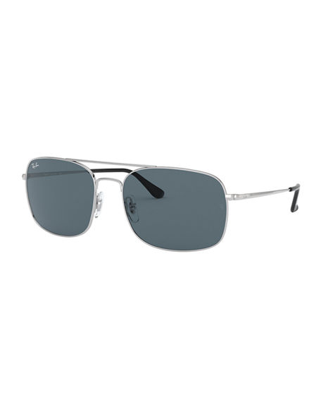 Ray-Ban Men's Rectangle Slim Steel Sunglasses