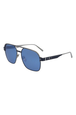 MCM Men's Navigator Sunglasses With Diamond Pattern