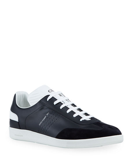 Dior Men's B01 Leather/Suede Low-Top Sneakers