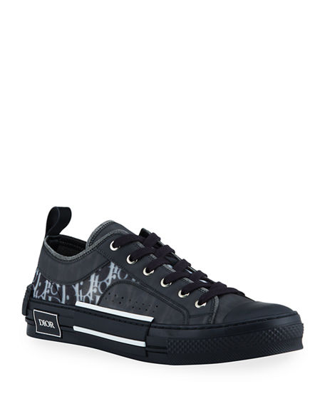 Dior Men's B23 Oblique Low-Top Sneakers