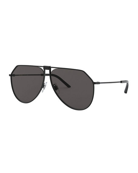 Dolce & Gabbana Men's Metal Geometric Aviator Sunglasses