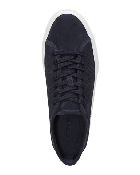 Image 2 of 5: Vince Men's Farrell-5 Perforated Suede Sneakers