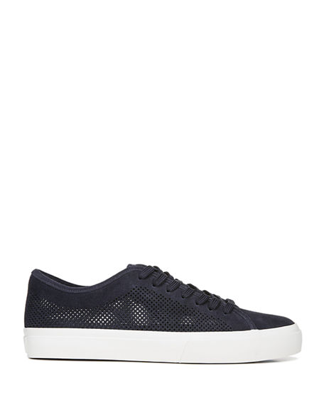 Image 3 of 5: Vince Men's Farrell-5 Perforated Suede Sneakers