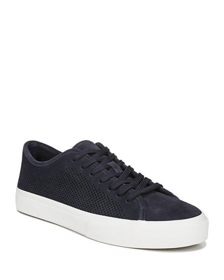 Image 1 of 5: Vince Men's Farrell-5 Perforated Suede Sneakers