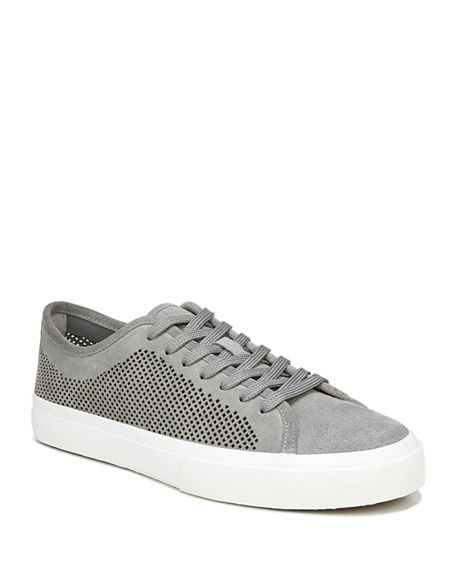 Vince Men's Farrell-5 Perforated Suede Sneakers