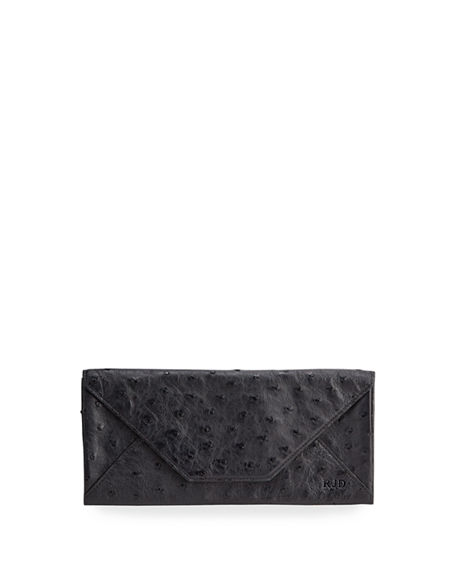 Image 1 of 2: Abas Men's Ostrich Envelope Travel Organizer