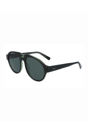 MCM Men's Architectural Gradient Aviator Sunglasses
