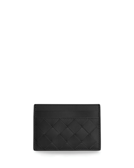 Bottega Veneta Men's Woven Leather Card Case