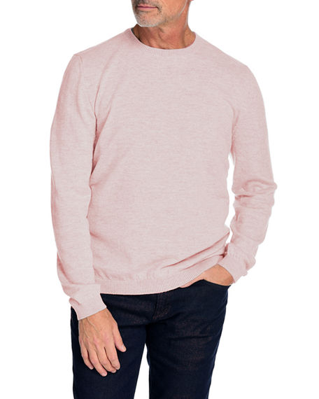 Fisher + Baker Men's Paxton Wool-Cashmere Crewneck Sweater