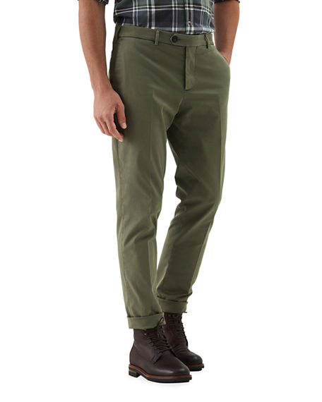Brunello Cucinelli Men's Stretch-Twill Tapered Pants