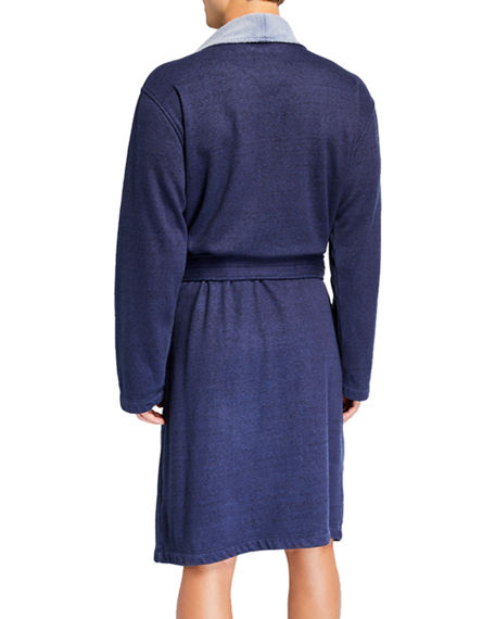 Image 2 of 4: UGG Men's Robinson Two-Tone Robe
