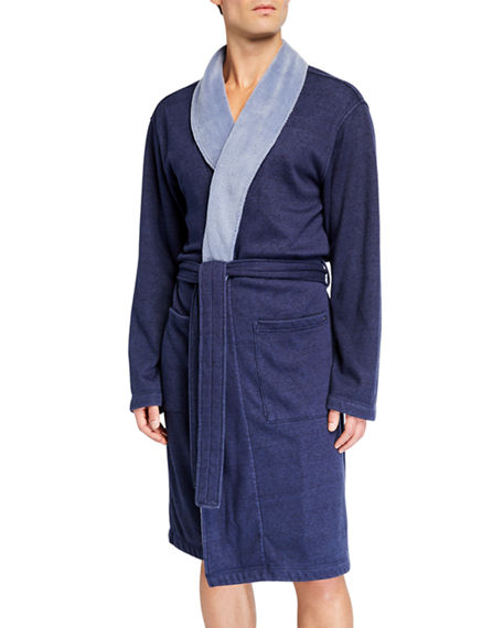 Image 1 of 4: UGG Men's Robinson Two-Tone Robe