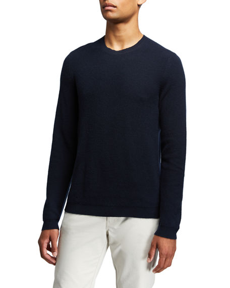Theory Men's Medin Solid Cashmere Crewneck Sweater