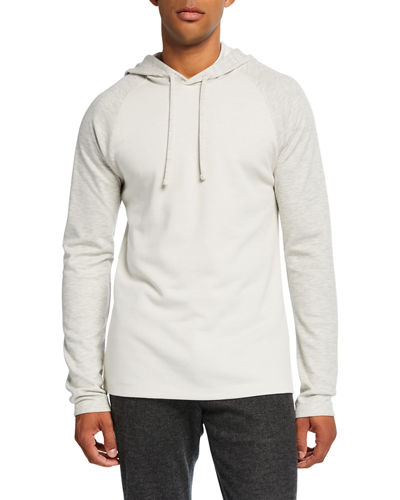 Men's Double-Knit Colorblock Pullover Hoodie