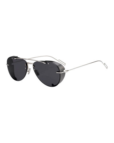 Men's Chroma 1 Rimless Mirrored Aviator Sunglasses