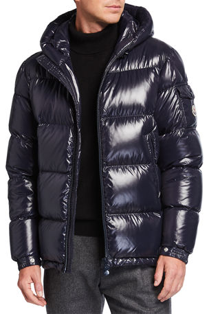 Moncler Men's Ecrins Shiny Down Puffer Jacket