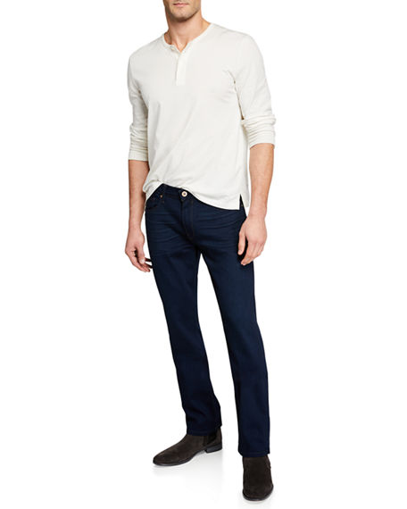 Image 3 of 3: PAIGE Men's Normandie Straight-Leg Denim
