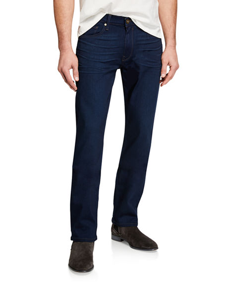 Image 1 of 3: PAIGE Men's Normandie Straight-Leg Denim