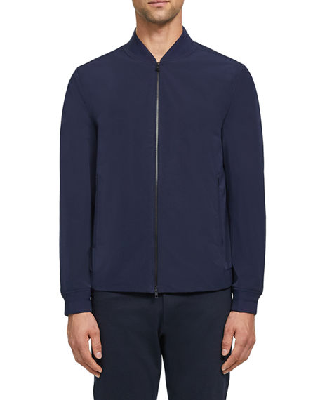 Image 1 of 4: Theory Men's Foundation Tech City Bomber Jacket