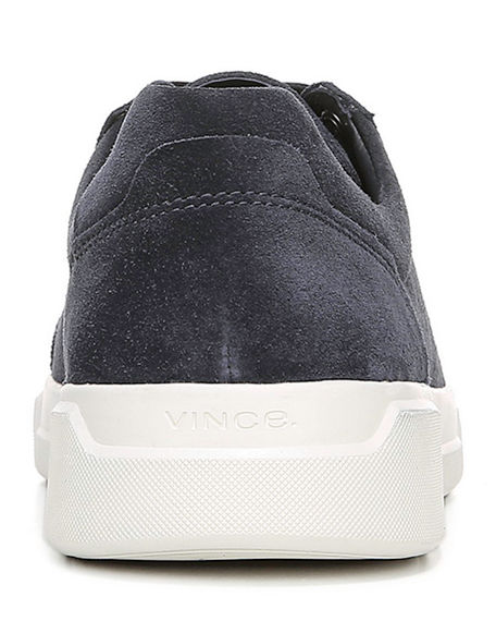 Image 4 of 4: Vince Men's Barnett Perforated Suede Low-Top Sneakers