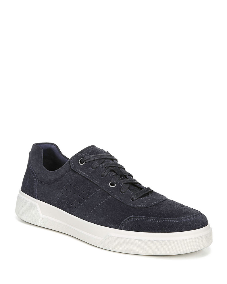 Vince Men's Barnett Perforated Suede Low-Top Sneakers