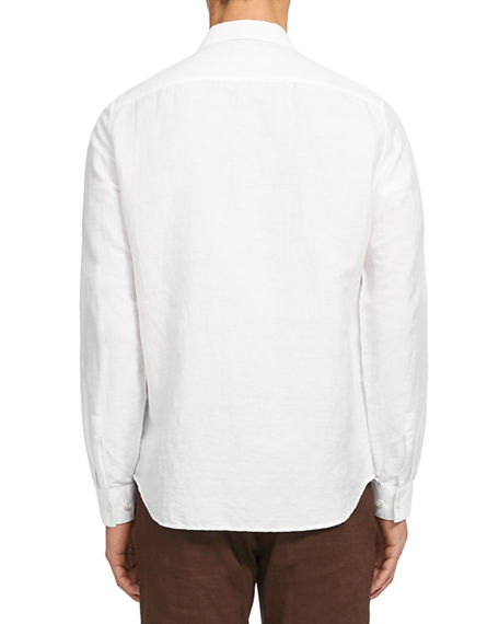 Image 3 of 3: Theory Men's Irving Linen/Cotton Twill Sport Shirt