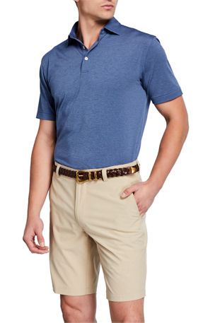 Peter Millar Men's Halford Striped Jersey Polo Shirt