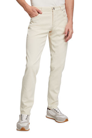 Brunello Cucinelli Men's Over-Dye 5-Pocket Pants