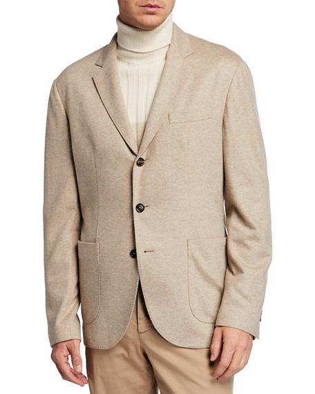Image 2 of 4: Brunello Cucinelli Men's Cashmere Jersey Unlined Jacket