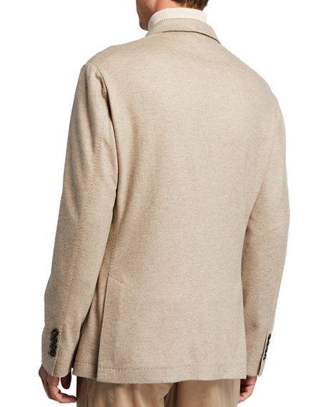 Image 3 of 4: Brunello Cucinelli Men's Cashmere Jersey Unlined Jacket