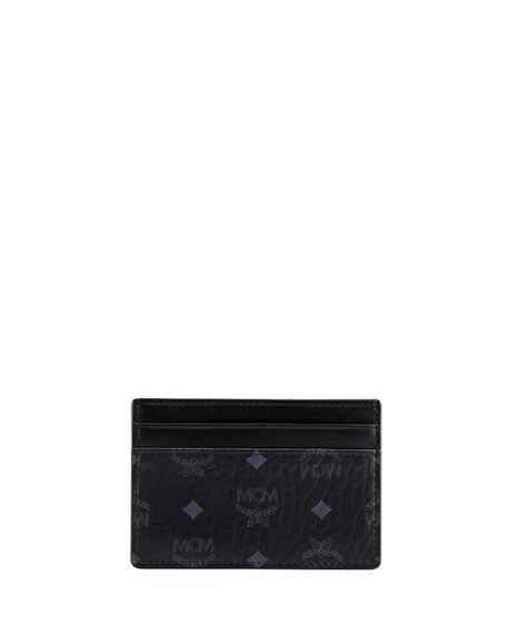 MCM Men's Signature Visetos Mini Card Case