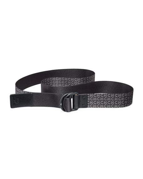 Image 2 of 2: MCM Men's Reversible Web Logo Belt