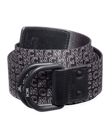 Image 1 of 2: MCM Men's Reversible Web Logo Belt