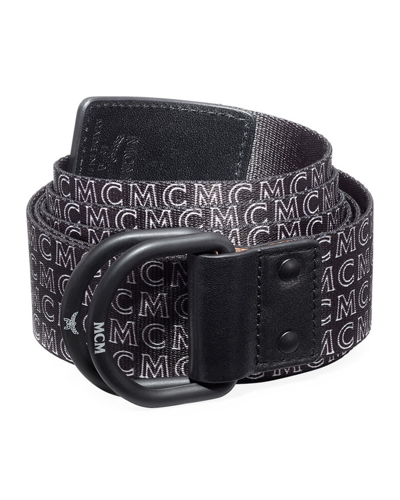 MCM Men's Reversible Web Logo Belt