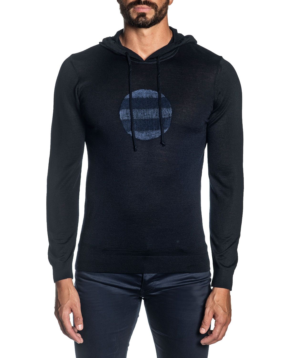 Men's Knit Graphic Pullover Hoodie