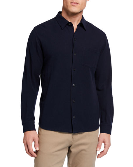 Vince Men's Solid Oxford Pique Sport Shirt