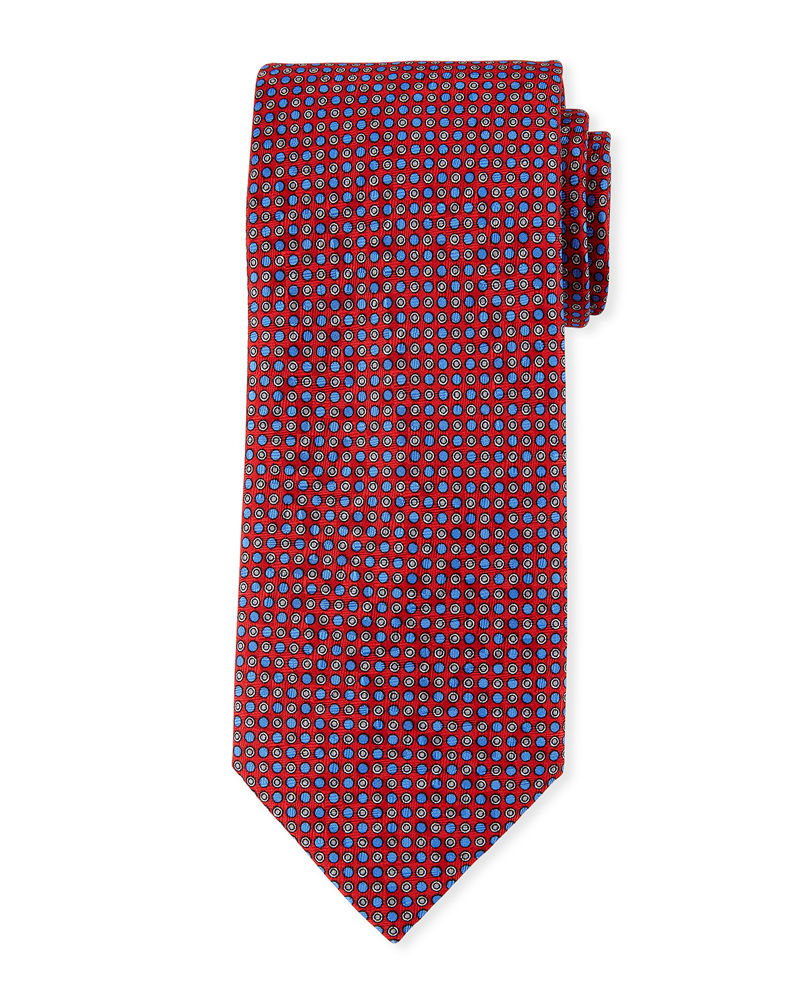 Brioni Small Circles Silk Tie